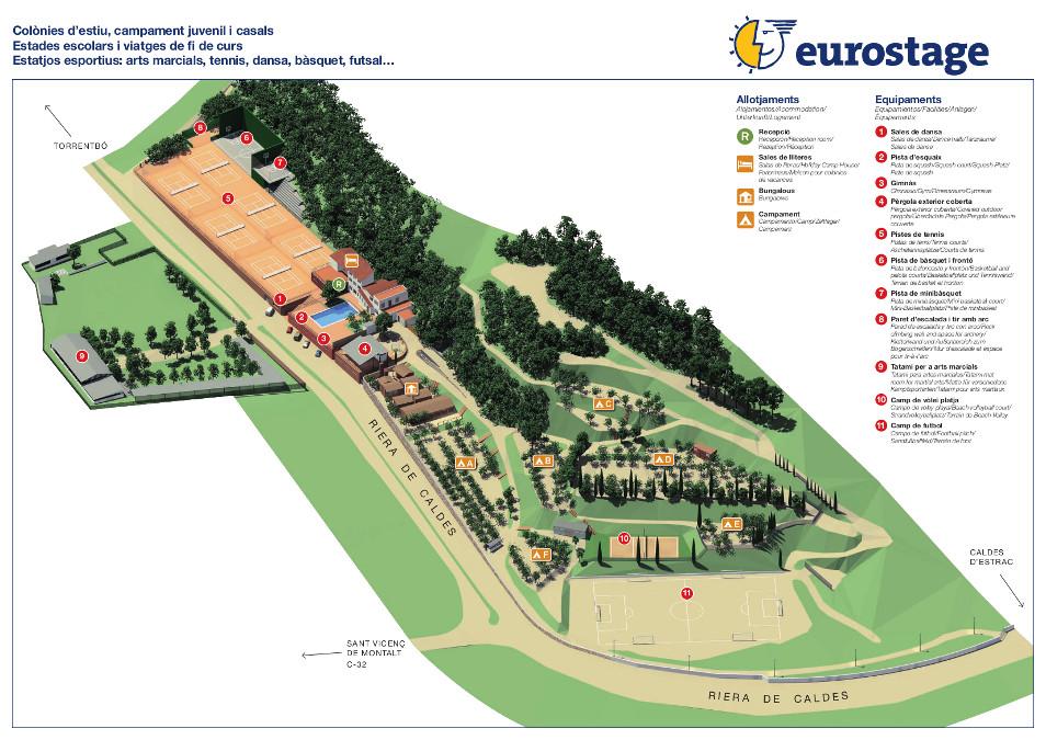 Eurostage, Caldes d'Estrac. Maresme. Casa de Colònies.